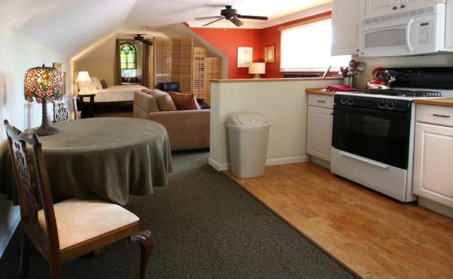 full kitchen loft suite