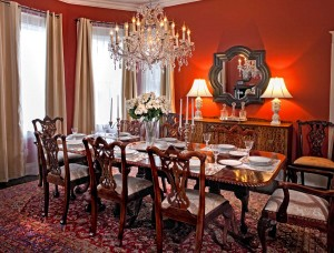 Dining Room in the Remington Suite